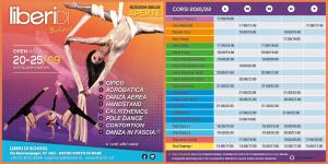 planning corsi 2021/22 liberi di... School. Scuola di circo, acrobatica e Arti Performative Milano